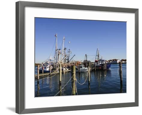 Montauk Harbour, Montauk, Long Island, New York State, United States of America, North America-Robert Harding-Framed Art Print