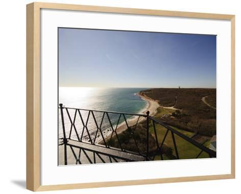 View from Montauk Point Lighthouse, Montauk, Long Island, New York State, USA-Robert Harding-Framed Art Print