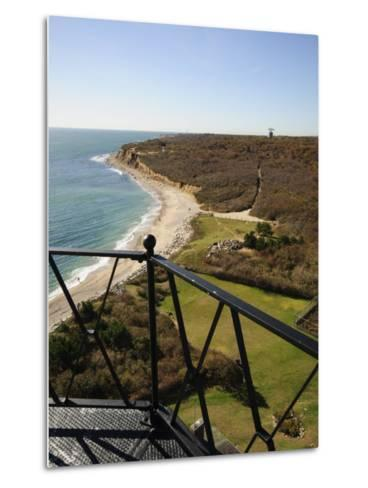 View from Montauk Point Lighthouse, Montauk, Long Island, New York State, USA-Robert Harding-Metal Print