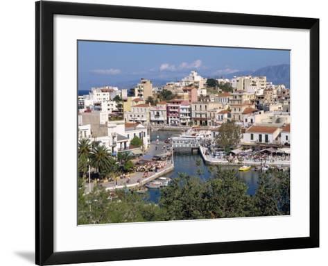 Bottomless Lake, Agios Nikolas, Crete, Greek Islands, Greece, Europe-Robert Harding-Framed Art Print