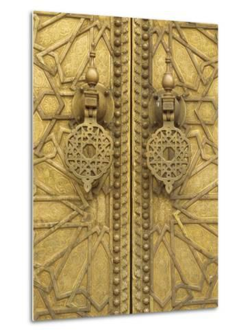 Architectural Detail, Royal Palace, Fez, Morocco, North Africa, Africa-Robert Harding-Metal Print