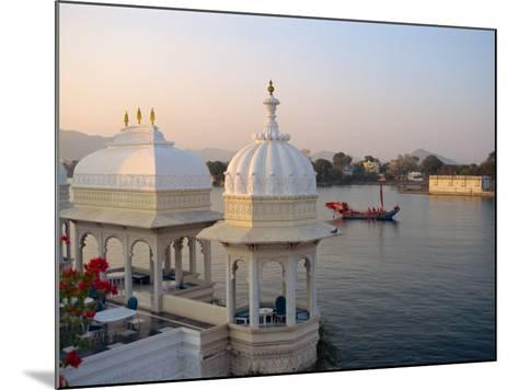 Royal Barge at the Lake Palace Hotel, Udaipur, Rajasthan State, India-Robert Harding-Mounted Photographic Print