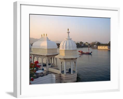 Royal Barge at the Lake Palace Hotel, Udaipur, Rajasthan State, India-Robert Harding-Framed Art Print