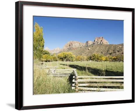 Landscape Near Zion National Park, Utah, United States of America, North America-Robert Harding-Framed Art Print