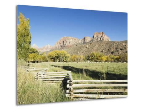 Landscape Near Zion National Park, Utah, United States of America, North America-Robert Harding-Metal Print