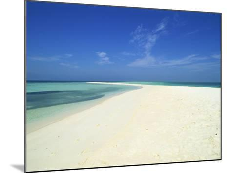 Empty Tropical Beach in the Maldive Islands, Indian Ocean-Harding Robert-Mounted Photographic Print