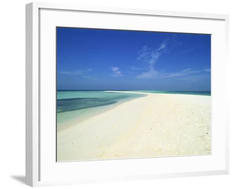 Empty Tropical Beach in the Maldive Islands, Indian Ocean-Harding Robert-Framed Art Print