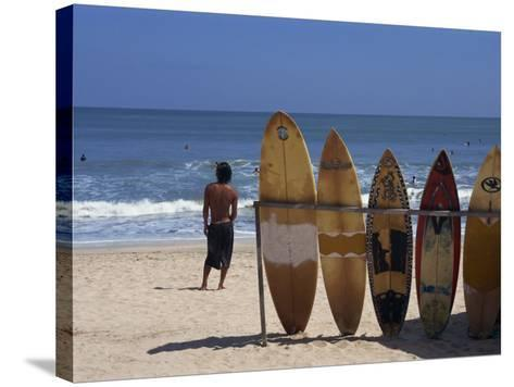 Surfboards Waiting for Hire at Kuta Beach on the Island of Bali, Indonesia, Southeast Asia-Harding Robert-Stretched Canvas Print