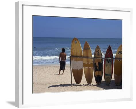 Surfboards Waiting for Hire at Kuta Beach on the Island of Bali, Indonesia, Southeast Asia-Harding Robert-Framed Art Print