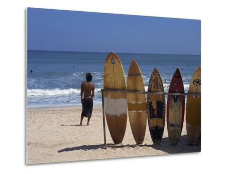 Surfboards Waiting for Hire at Kuta Beach on the Island of Bali, Indonesia, Southeast Asia-Harding Robert-Metal Print