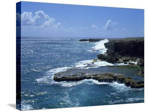 Aerial of Coastline, Barbados, West Indies, Caribbean, Central America-Harding Robert-Stretched Canvas Print