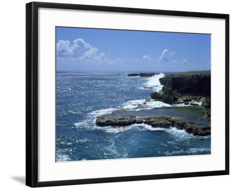 Aerial of Coastline, Barbados, West Indies, Caribbean, Central America-Harding Robert-Framed Art Print