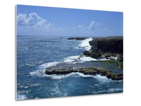 Aerial of Coastline, Barbados, West Indies, Caribbean, Central America-Harding Robert-Metal Print