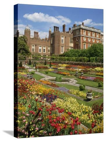 Pond Garden in the Palace Gardens, Hampton Court, London, England, United Kingdom, Europe-Harding Robert-Stretched Canvas Print