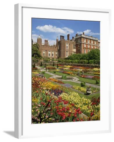 Pond Garden in the Palace Gardens, Hampton Court, London, England, United Kingdom, Europe-Harding Robert-Framed Art Print