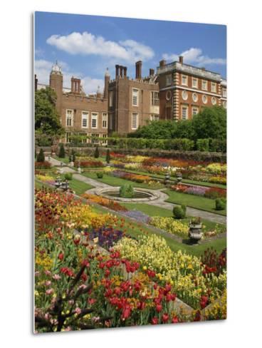 Pond Garden in the Palace Gardens, Hampton Court, London, England, United Kingdom, Europe-Harding Robert-Metal Print
