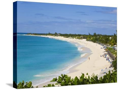 Elevated View of Baie Longue Beach, St. Martin, Leeward Islands, West Indies-Gavin Hellier-Stretched Canvas Print