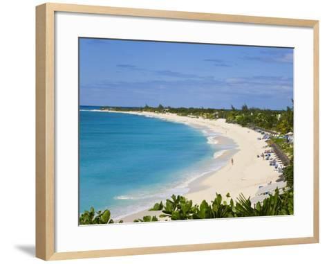 Elevated View of Baie Longue Beach, St. Martin, Leeward Islands, West Indies-Gavin Hellier-Framed Art Print