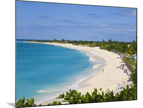 Elevated View of Baie Longue Beach, St. Martin, Leeward Islands, West Indies-Gavin Hellier-Mounted Photographic Print
