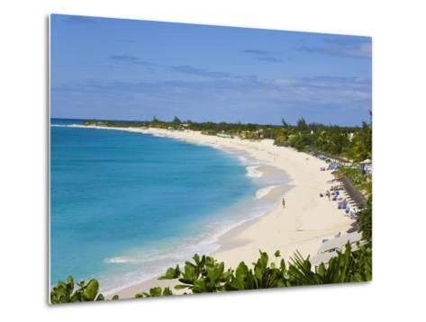 Elevated View of Baie Longue Beach, St. Martin, Leeward Islands, West Indies-Gavin Hellier-Metal Print