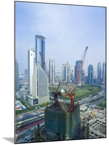 Skyscrapers and New Construction in the Lujiazui Financial District of Pudong, Shanghai, China-Gavin Hellier-Mounted Photographic Print
