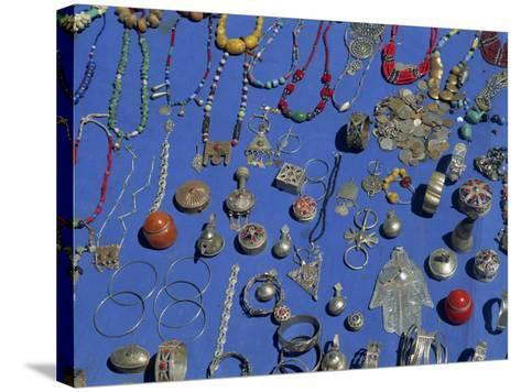 Jewellery Laid Out for Sale, Boumalne Du Dades Market, Morocco, North Africa, Africa-Harding Robert-Stretched Canvas Print