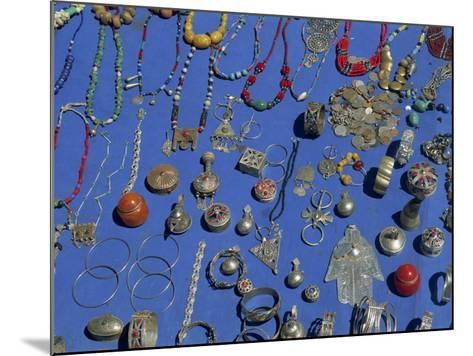 Jewellery Laid Out for Sale, Boumalne Du Dades Market, Morocco, North Africa, Africa-Harding Robert-Mounted Photographic Print