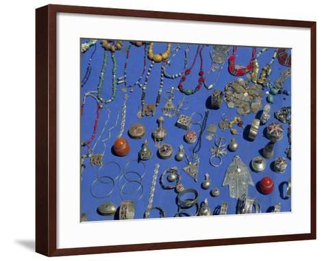 Jewellery Laid Out for Sale, Boumalne Du Dades Market, Morocco, North Africa, Africa-Harding Robert-Framed Art Print