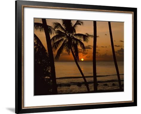 Beach at Sunset, Barbados, West Indies, Caribbean, Central America-Harding Robert-Framed Art Print