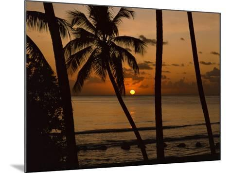 Beach at Sunset, Barbados, West Indies, Caribbean, Central America-Harding Robert-Mounted Photographic Print