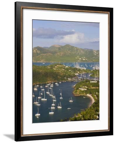 English Harbour from Shirley Heights, Antigua, Leeward Islands, West Indies-Gavin Hellier-Framed Art Print