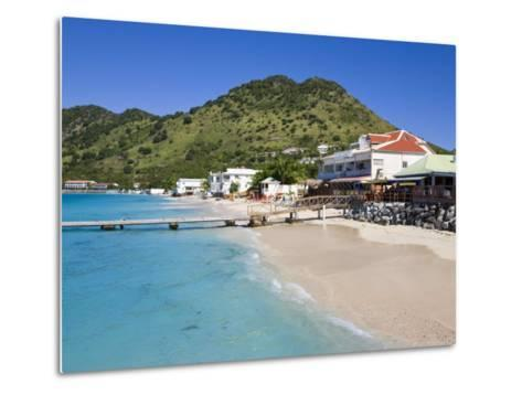 Beach at Grand-Case on the French Side, St. Martin, Leeward Islands, West Indies, Caribbean-Gavin Hellier-Metal Print