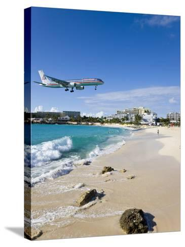 Beach at Maho Bay, St. Martin, Leeward Islands, West Indies-Gavin Hellier-Stretched Canvas Print