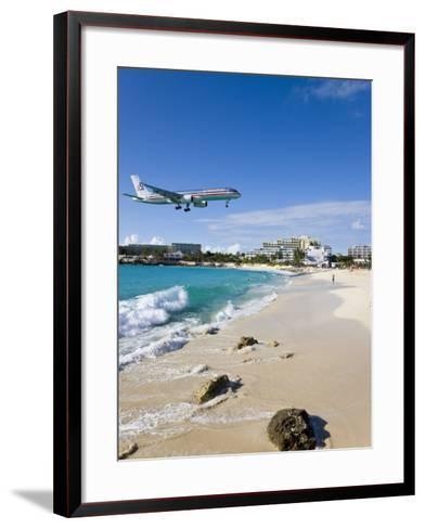 Beach at Maho Bay, St. Martin, Leeward Islands, West Indies-Gavin Hellier-Framed Art Print