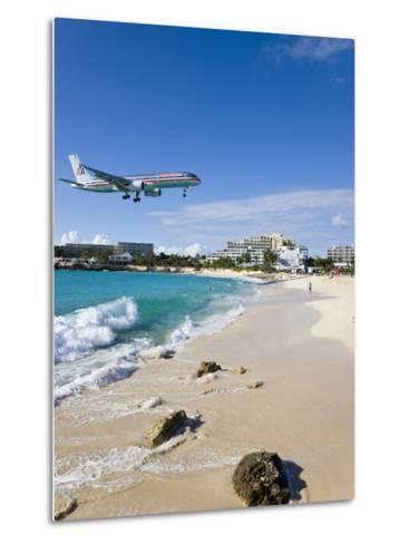 Beach at Maho Bay, St. Martin, Leeward Islands, West Indies-Gavin Hellier-Metal Print