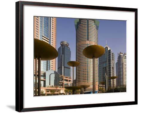 Modern Skyscrapers in the Lujiazui Financial District of Pudong, Shanghai, China-Gavin Hellier-Framed Art Print