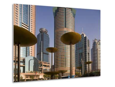 Modern Skyscrapers in the Lujiazui Financial District of Pudong, Shanghai, China-Gavin Hellier-Metal Print