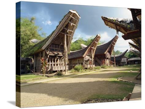Toraja Houses and Granaries, Toraja Area, Sulawesi, Indonesia, Southeast Asia-Harding Robert-Stretched Canvas Print