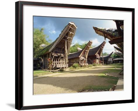 Toraja Houses and Granaries, Toraja Area, Sulawesi, Indonesia, Southeast Asia-Harding Robert-Framed Art Print