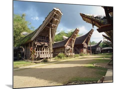 Toraja Houses and Granaries, Toraja Area, Sulawesi, Indonesia, Southeast Asia-Harding Robert-Mounted Photographic Print