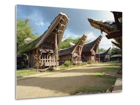 Toraja Houses and Granaries, Toraja Area, Sulawesi, Indonesia, Southeast Asia-Harding Robert-Metal Print