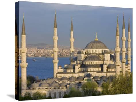 Blue Mosque in Sultanahmet, Overlooking the Bosphorus, Istanbul, Turkey-Gavin Hellier-Stretched Canvas Print