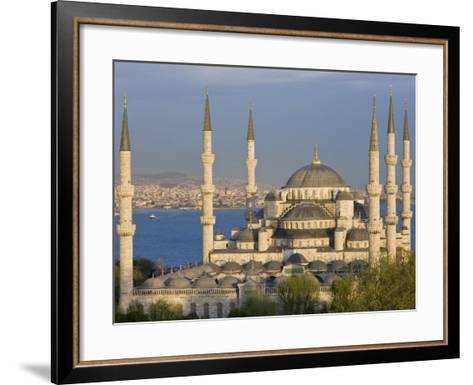 Blue Mosque in Sultanahmet, Overlooking the Bosphorus, Istanbul, Turkey-Gavin Hellier-Framed Art Print