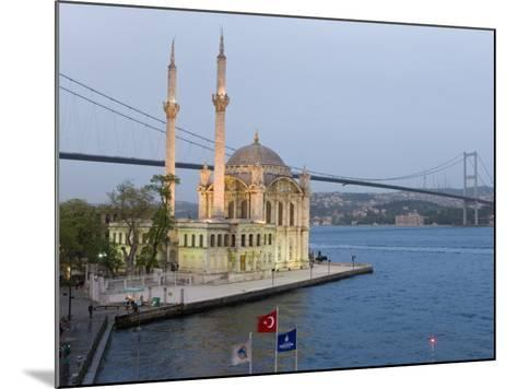 Bosphorous Bridge and Ortakoy Camii Mosque in the Trendy Ortakoy District, Istanbul, Turkey-Gavin Hellier-Mounted Photographic Print