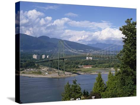 Lions Gate Bridge, Vancouver, British Columbia, Canada, North America-Harding Robert-Stretched Canvas Print