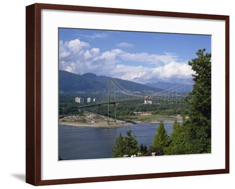 Lions Gate Bridge, Vancouver, British Columbia, Canada, North America-Harding Robert-Framed Art Print