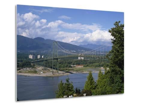 Lions Gate Bridge, Vancouver, British Columbia, Canada, North America-Harding Robert-Metal Print
