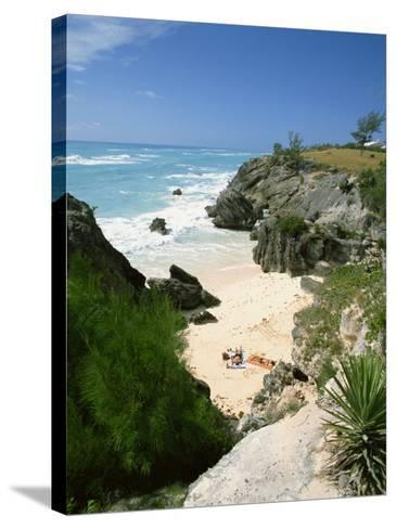 South Coast Beach, Bermuda, Central America, Mid Atlantic-Harding Robert-Stretched Canvas Print