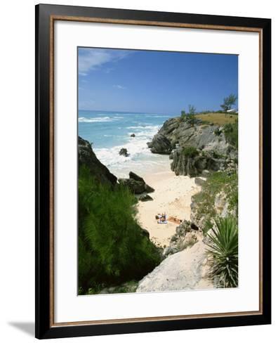 South Coast Beach, Bermuda, Central America, Mid Atlantic-Harding Robert-Framed Art Print