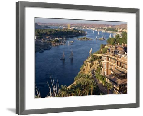 View from the New Cataract Hotel of the River Nile at Aswan, Egypt, North Africa, Africa-Harding Robert-Framed Art Print